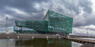 REYKJAVIK, ICELAND - April 03: Harpa Concert Hall is a modern de Stock Images
