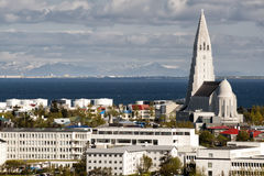 Reykjavik iceland church Royalty Free Stock Photos