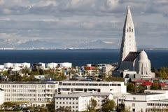 Reykjavik iceland church Royalty Free Stock Photos