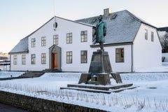 REYKJAVIK/ICELAND - 5. FEBRUAR: Regierungs-Haus, Premierminister lizenzfreie stockfotos