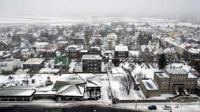REYKJAVIK/ICELAND - FEBRUARI 04: Sikt över Reykjavik från Hallgrimsk Arkivbild