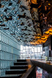 REYKJAVIK/ICELAND - FEBRUARY 4 : Interior View of the Harpa Conc Royalty Free Stock Images