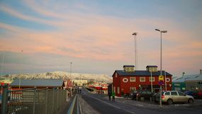 Reykjavik, Iceland - January, 2016: Tourists Visiting the Old Harbor in Reykjavik Stock Images