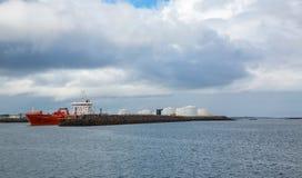 REYKJAVIK, ICELAND-JULY 25: Old harbor 25, 2013 in Reykjavik, Ic Royalty Free Stock Image