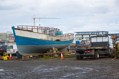 REYKJAVIK, ICELAND-JULY 25: Old harbor 25, 2013 in Reykjavik, Ic Royalty Free Stock Images