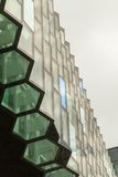 Reykjavik, Iceland, May 2014: An exterior view of the Harpa Concert Hall and Conference Centre Royalty Free Stock Images