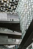 Reykjavik, Iceland, May 2014: An interior view of the Harpa Concert Hall and Conference Centre Stock Photography