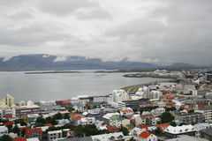 Reykjavik in Iceland near the bay stock photos