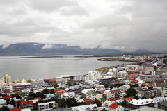 Reykjavik in Iceland near the bay Royalty Free Stock Images