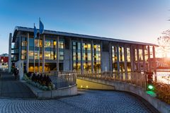 REYKJAVIK, ICELAND/NOVEMBER 01,2017: Ayuntamiento en la mañana Fotos de archivo libres de regalías