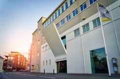 REYKJAVIK ICELAND/NOVEMBER 01,2017: Museet av modern konst Fotografering för Bildbyråer