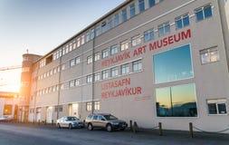REYKJAVIK ICELAND/NOVEMBER 01,2017: Museet av modern konst Royaltyfri Bild