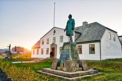 REYKJAVIK, ICELAND/OCTOBER 31,2017: Budynek parlament Fotografia Royalty Free