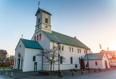 REYKJAVIK,ICELAND/OCTOBER 31,2017: Domkirkjan-Reykjavik Lutheran Royalty Free Stock Images