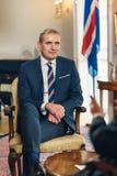 REYKJAVIK, ICELAND/OCTOBER 31,2017: Presidente dell'Islanda Gudni Jo fotografia stock
