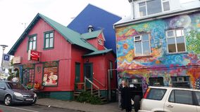 Reykjavik Iceland Old City Houses stock image