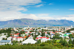 Reykjavik, Iceland. Panoramic view of Reykjavik, Iceland Royalty Free Stock Photo