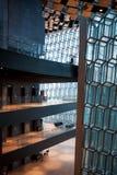 REYKJAVIK ICELAND, SIERPIEŃ, - 27, 2017: Harpa, filharmonia i centrum konferencyjne w Reykjavik, Fotografia Stock
