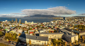 Reykjavik in Iceland viewed from above Royalty Free Stock Image