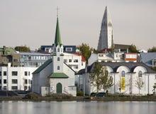 Reykjavik in IJsland Royalty-vrije Stock Fotografie