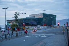 REYKJAVIK, 4 IJSLAND-AUGUSTUS: Stadsstraten 4, 2013 in Reykjavik, Stock Afbeelding