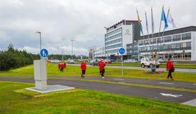 REYKJAVIK, 25 IJSLAND-JULI: Stadsstraten 25, 2013 in Reykjavik, Stock Foto