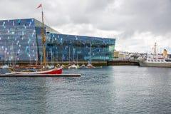REYKJAVIK, ISLANDE 25 JUILLET : Vieux port 25, 2013 à Reykjavik, IC photos stock