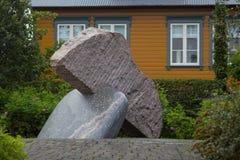 REYKJAVIK, ISLANDIA 4 DE AGOSTO: Calles 4, 2013 de la ciudad en Reykjavik, fotos de archivo libres de regalías
