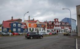 REYKJAVIK, ISLANDIA 25 DE JULIO: Calles 25, 2013 de la ciudad en Reykjavik, imagenes de archivo