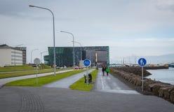 REYKJAVIK, ISLANDIA 25 DE JULIO: Calles 25, 2013 de la ciudad en Reykjavik, imagen de archivo libre de regalías