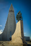 Reykjavik-Marksteine lizenzfreie stockfotos