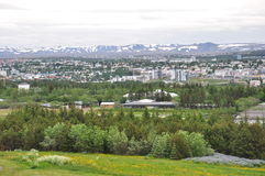 Reykjavik miasto Fotografia Royalty Free