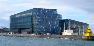 Reykjavik. Modern Harpa concert hall of Reykjavik, Iceland royalty free stock photo