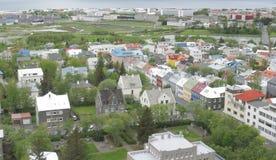 Reykjavik panorama arkivfoto