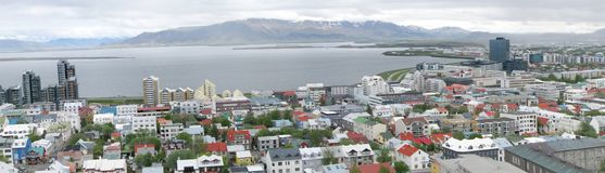 Reykjavik panorama Arkivfoton