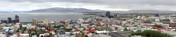 Reykjavik panorama royaltyfri bild