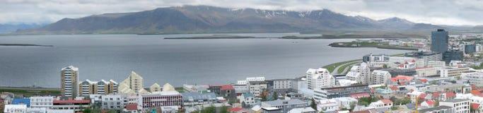 Reykjavik panorama arkivbilder