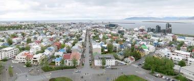 Reykjavik panorama stock photography