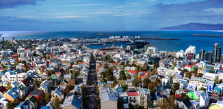 Reykjavik panorama Royalty Free Stock Photo