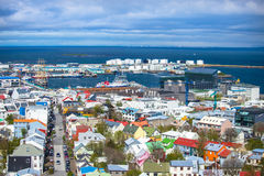Reykjavik. Panoramic city view from Hallgrimskirkja church Iceland Stock Photography