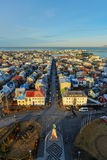 Reykjavik pejzaż miejski Fotografia Royalty Free