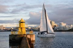 Reykjavik port morski Zdjęcia Royalty Free