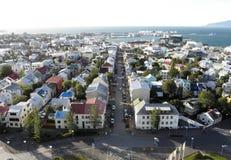 reykjavik powietrzny widok Obrazy Royalty Free
