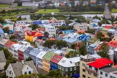 Reykjavik rooftops Stock Images