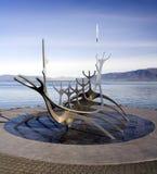 Reykjavik - Solfar Suncraft - Island stockbilder