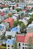 Reykjavik stad. Royalty-vrije Stock Foto's