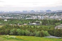 Reykjavik stad Royaltyfri Fotografi