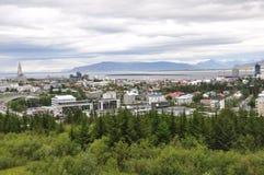 Reykjavik stad Fotografering för Bildbyråer