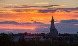 Reykjavik sunset Royalty Free Stock Photos