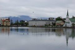 Reykjavik-Teich Lizenzfreie Stockbilder